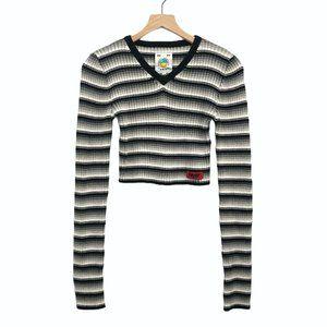 UNIF Black, Gray, & White Striped Sweater - Size L